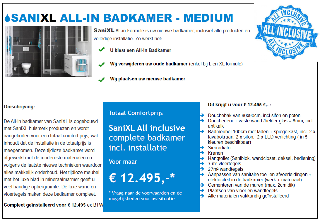 ALL-IN BADKAMERS – SaniXL